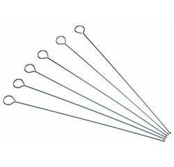 compra en línea Set de 6 pinchos de acero inoxidable para brochetas (30 cm)