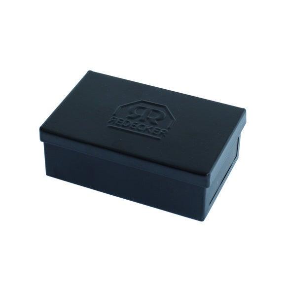 Boite savon en métal noir Zingue 9x5,5x3cm