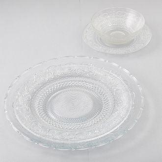 Assiette plate en verre classica 25cm