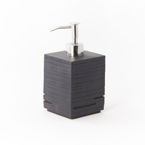 Dispenser di sapone in acciaio inox nero