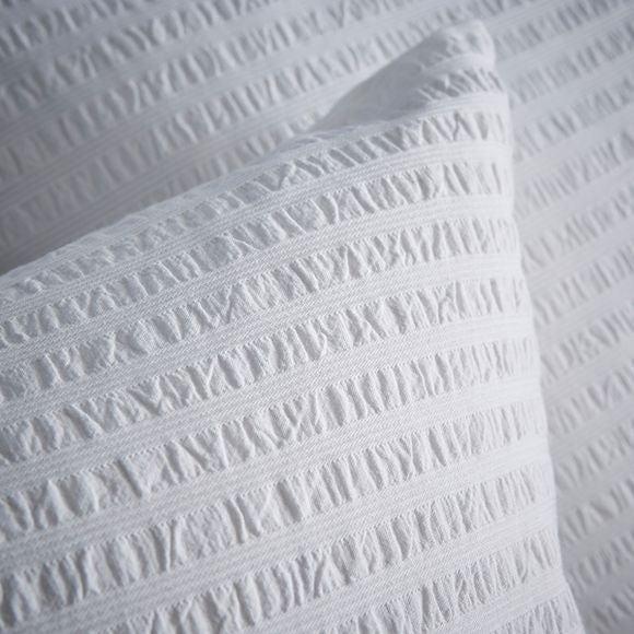 acquista online Federa quadrata in cotone bianco effetto stropicciato 65x65cm