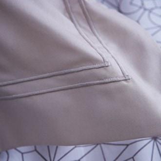 Maom - taie d'oreiller rectangle uni ivoire en percale 50x70cm