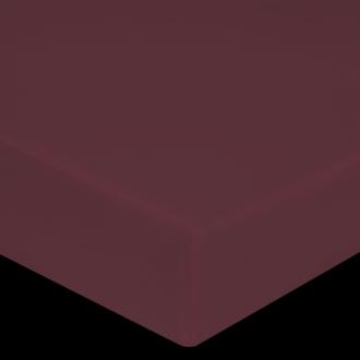 Maom - drap housse en percale terre rouge 160x200cm