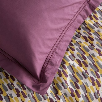 Maom - taie d'oreiller rectangle en percale terre rouge 50x70cm