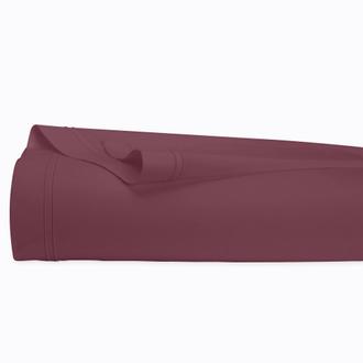 Drap plat en percale terre rouge 240x300cm