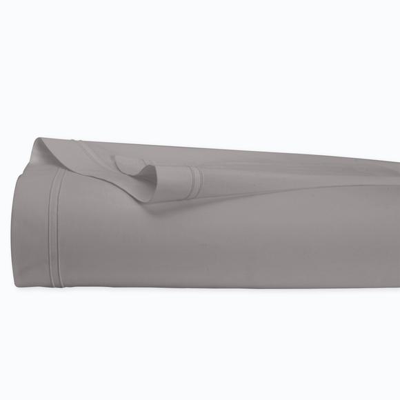 Lenzuolo matrimoniale king size in cotone percalle grigio