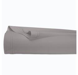 compra en línea Sábana lisa de percal con reborde gris ceniza (270 x 300 cm)