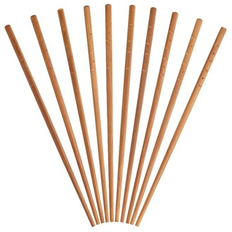 Set de 10 baguettes en bambou