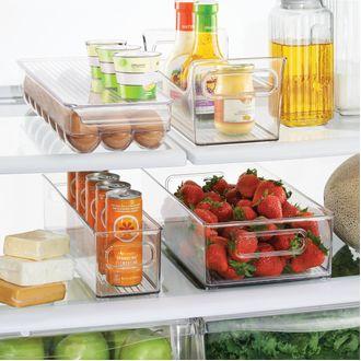 INTERDESIGN - Bac de rangement frigo profond en acrylique 4x4cm