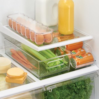 Interdesign - bac de rangement frigo profond en acrylique 8x4cm