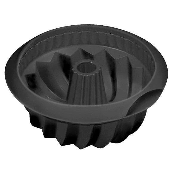 Stampo ciambellone antiaderente in silicone nero 22 cm
