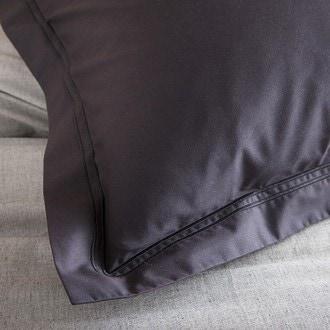 Maom - taie d'oreiller carrée en percale noir 65x65cm