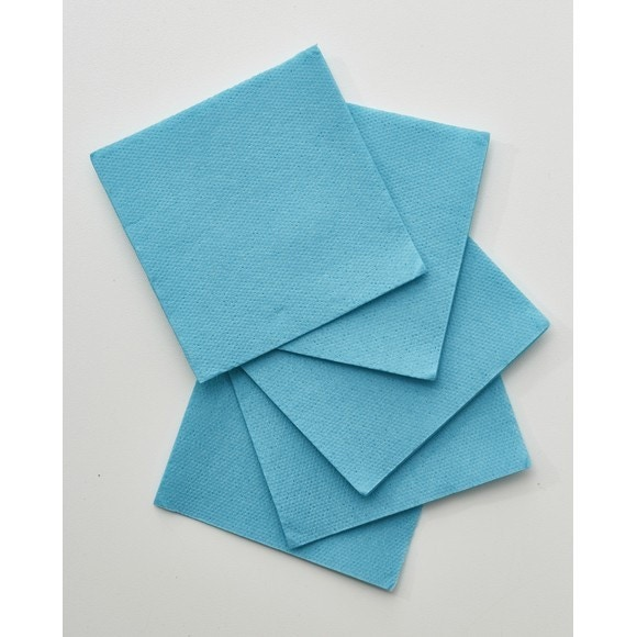 Achat en ligne 50 serviettes 20x20cm en papier celi ouate uni turquoise
