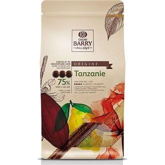 BARRY - Chocolat de couverture noir de Tanzanie en pistoles 1kg