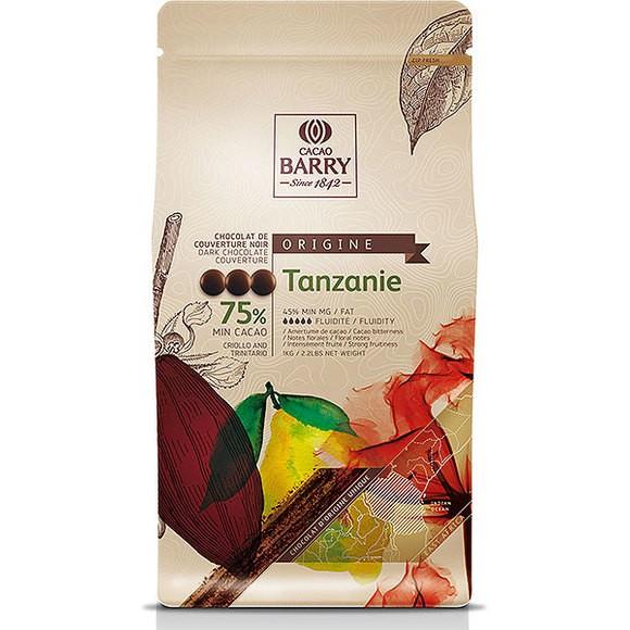 Chocolat de couverture noir de Tanzanie en pistoles 1kg
