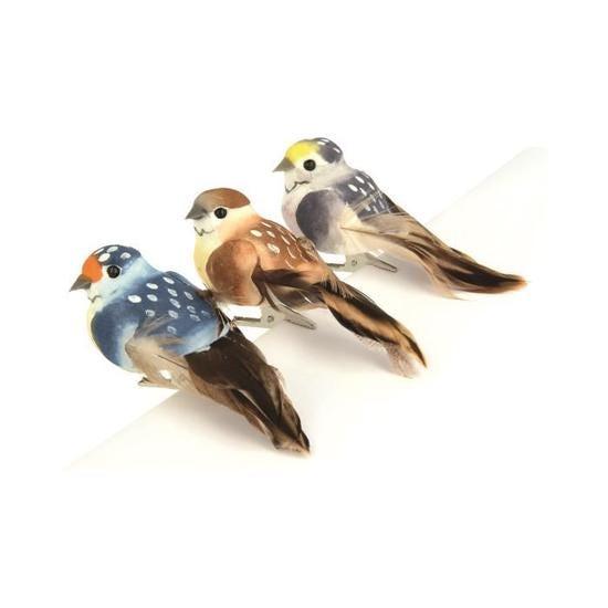 Achat en ligne Lot de 3 oiseaux décoratifs coloris hiver