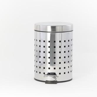 Poubelle de salle de bain 3L en inox ajouré