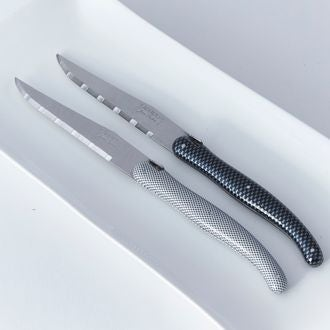 LAGUIOLE - Couteau en damier blanc