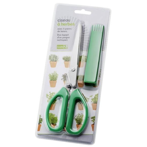 Achat en ligne Ciseaux à herbes à 5 lames avec peigne