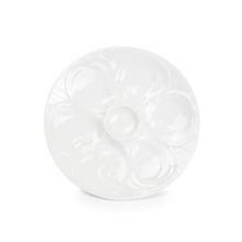 Achat en ligne Assiette à huîtres en porcelaine blanche 6 portions 23,5cm