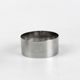 Cercle pour mousse en inox 9cm H4,5cm