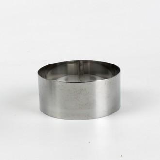 Cercle pour mousse en inox 10cm H4,5cm