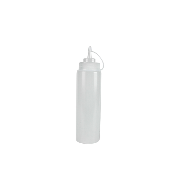Bouteille souple en plastique transparent grand modèle