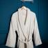Peignoir mixte taille S en coton jacquard beige
