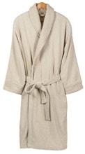 Achat en ligne Peignoir mixte taille XL en coton jacquard beige