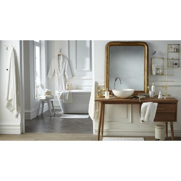 Achat en ligne Peignoir mixte taille S en coton jacquard blanc