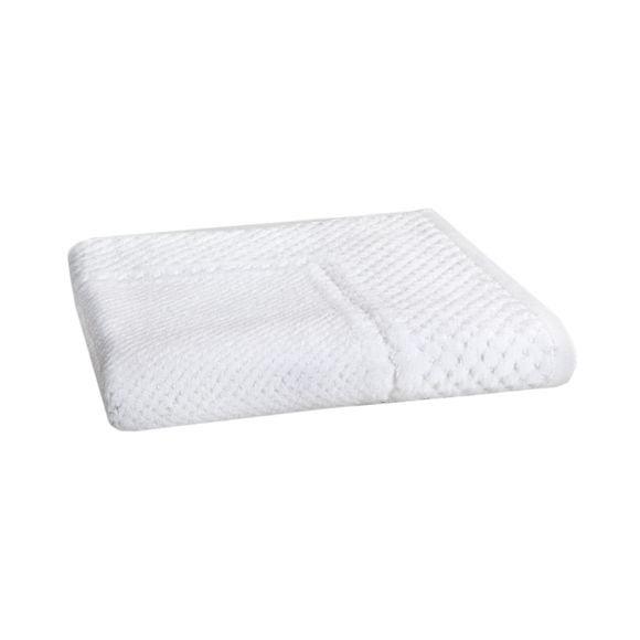 Tappeto da bagno jacquard bianco 70x50cm