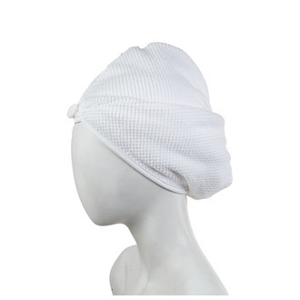 Turban de sauna blanc Jacquard