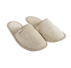 Achat en ligne Mules de sauna taille 38/40 en coton jacquard beige
