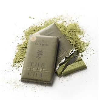 Tablette de chocolat blanc au thé vert 85g