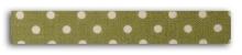 Achat en ligne Rouleau de tissu adhésif vert à pois blanc 1,5cmx5m
