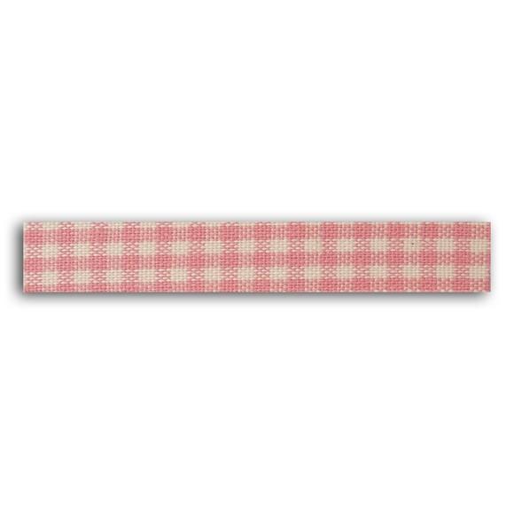 Rouleau de tissu adhésif thermocollant rose 1,5cmx5m