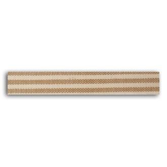 TOGA - Rouleau de tissu adhésif thermocollant rayé beige - largeur 1,5cm, longueur - 5 m