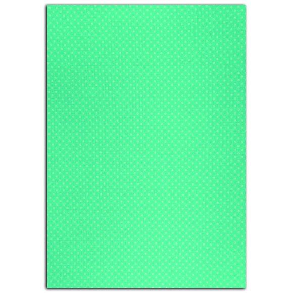 Coupon de tissu adhésif turquoise à pois blancs format A4