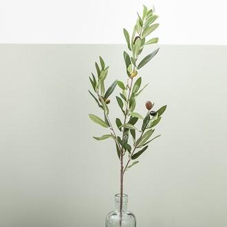 Branche artificielle d'olivier ramifié h80cm