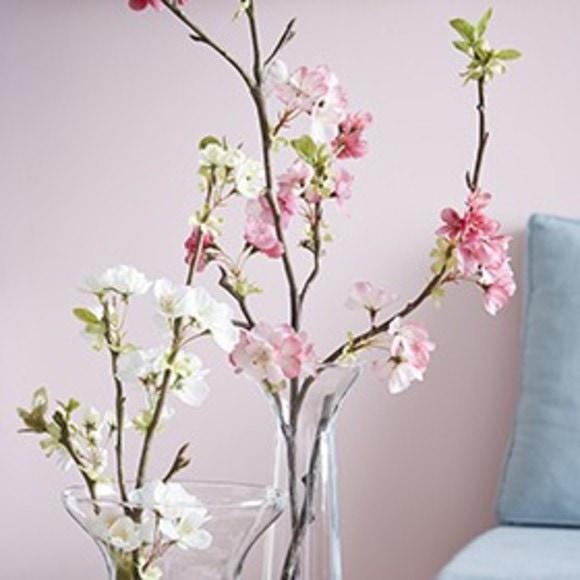 Branche artificielle de cerisier rose H105cm