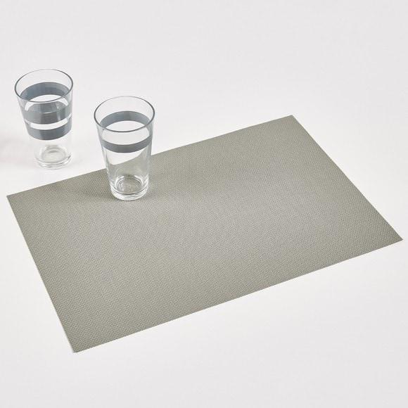 Set de table pvc gris 45x30cm