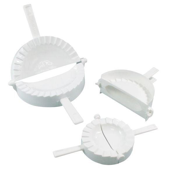 Set di 3 stampi per panzerotti in plastica 9,5 - 12 e 15 cm