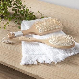 Brosse à cheveux rectangulaire fordjen en bois