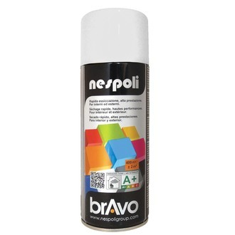 NESPOLI - Peinture professionnelle aérosol blanc brillant en spray 400 ml