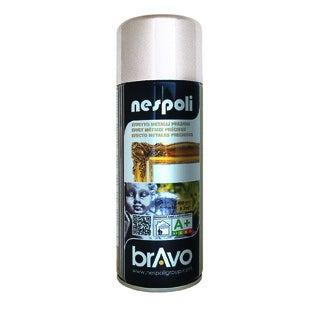 NESPOLI - Peinture professionnelle aérosol argent en spray 400 ml