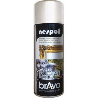 NESPOLI - Peinture professionnelle aérosol chrome argent en spray 400 ml