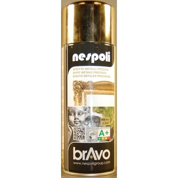 Peinture professionnelle aérosol chrome or en spray 400 ml