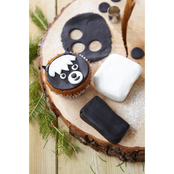 Pâte à sucre noire aromatisée vanille 250g