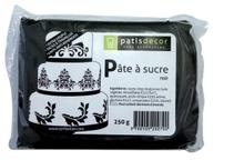 Achat en ligne Pâte à sucre noire aromatisée vanille 250g