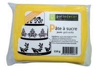 Achat en ligne Pâte à sucre jaune aromatisée vanille 250g